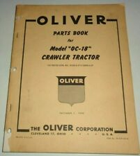 Oliver OC-18 Crawler Tractor Parts Catalog Book ORIGINAL! DEC 1953 Dealers