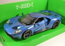 2017 FORD GT in Blue 1/24 scale model by WELLY