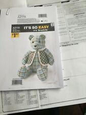 Bear sewing pattern 18 inch