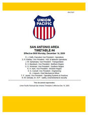 Union Pacific San Antonio Area Employee Timetable #4 DEC 14 2009 UPRR ETT