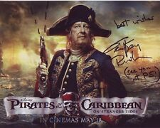 GEOFFREY RUSH Signed PIRATES OF THE CARIBBEAN Photo w/ Hologram COA
