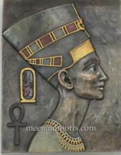 "New listing Egyptian Queen Nefertiti Wall Plaque-Bronze Color 8. 5"" X6. 5"""