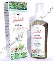 Huile de Chanvre BIO 100% Pure & Naturelle 120ml Hemp Oil, Aceite Cáñamo