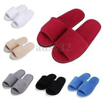 Men Women Coral Velvet Open Toe Hotel Home Spa Slippers Travel Shoes Thick 7mm