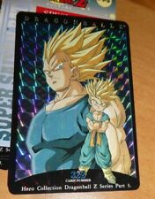 DRAGON BALL Z DBZ HERO COLLECTION PART 3 CARD RARE PRISM CARTE 322 MINT NEUF