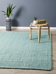 JUTE RUG BLUE Braided Large Floor mat Carpet FREE DELIVERY*
