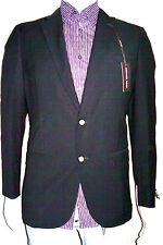 42R Unlined Blazer Seasonal Flex Black 100%W Thin Herringbone MICHAEL K. 42R=52E