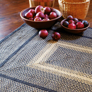 HOMESPICE BRAIDED JUTE FARMHOUSE COUNTRY RUSTIC RUGS ~ MANCHESTER BLACK