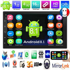 "Android8.1 Autoradio WiFi BT 2Din 7""Voiture Stéréo GPS Navi MP5 Lecteur FM Radio"