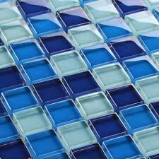 Mosaicos DE VIDRIO AZULEJOS Mosaicos Cristal Claro Blue 23 x 23 x 8mm