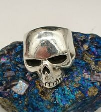 The Great Frog New Skool Skull Ring - Size M, Silver 925