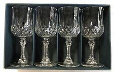 Set of 4 Cristal d'Arques Longchamp Footed Goblets 24% Lead Crystal NIB