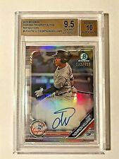 2019 Bowman Chrome Ref. Dom Thompson-Williams Autograph #/499 BGS GEM MINT 9.5