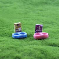 1/12 scale Doll House Miniature Kitchen Garden Pet Dog Food on Bowl Sn
