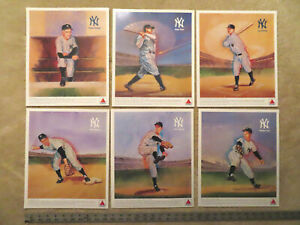 1989 CITGO New York Yankees 6 Hall of Famers Color Prints Large 11x13 Mint MLB