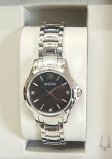 Bulova Ladies Diamond Mother of Pearl Dial Bracelet Watch - 96P153. New. 823