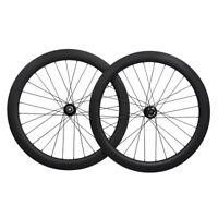 50mm Sapim  Bicycle Disc Wheelset Clinche Brake 700C Carbon  Road 11s thru axle