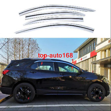Chrome Window Visor Vent Shades Sun Rain Guard For Chevrolet Equinox 2018-2020