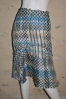 ERNEST Taille 38 Superbe jupe en SOIE bleu gris silk skirt