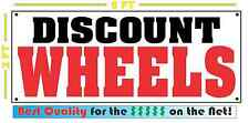 DISCOUNT WHEELS Banner Sign NEW 4 Car Truck SUV Van Repair Tire Shop RIMS