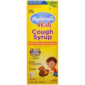 Hyland's Cough Syrup with 100% Natural Honey 4 Kids 4 oz