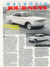 1990 1963 Ford Galaxie Lightweight Original Car Review Print Article J504