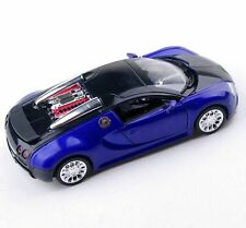 Toys Model Collection Bugatti Veyron Blue Vehicle 1/36 W/Sound Light Diecast Car