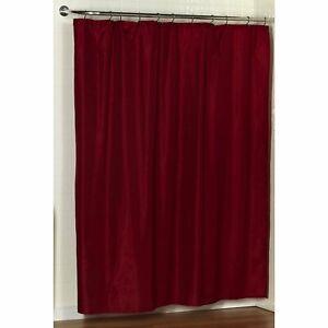 "Carnation Home ""Lauren"" Dobby Fabric Shower Curtain in Burgundy"