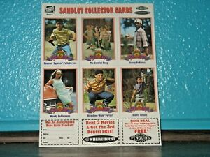 The Sandlot 1993 Two Six Card Uncut Sheets Set of 12 Collector Cards IMPOSSIBLE