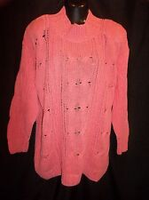 FORENZA Chunky Cable Knit LONG Sweater Top  Women's Size MEDIUM