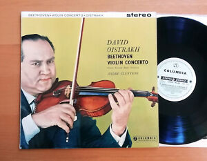 SAX 2315 ED1 Oistrakh Beethoven Violin Concerto Cluytens Columbia 1st B/S Stereo