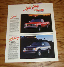 Original 1989 GMC Truck Full Line Sales Brochure 89 Jimmy Sierra Suburban Rally