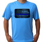 Blue Lives American Flag Fishing Boat Beach UPF 50 T-Shirt Sport UV Protection