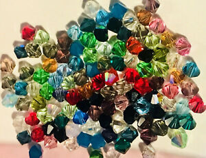 Collection Bicone Crystal Beads Multicolor 6mm 100pc
