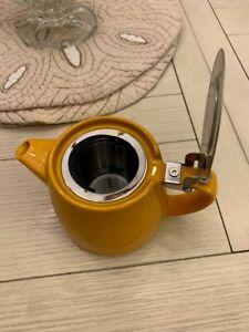 FORLIFE  Mandarin Yellow Stump Teapot Infuser Personal Loose Leaf Ceramic
