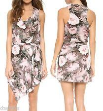 67c12cf7b46 Haute Hippie Floral Print Silk Cowlneck Dress Size L