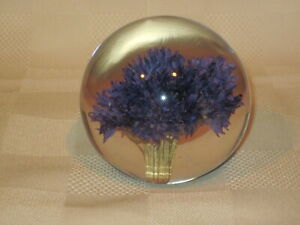 Vintage Lucite Paperweight Made Great Britian 1993