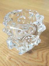 Mortier /  Petit Vase Schneider en cristal modèle Delphinium. signé. design