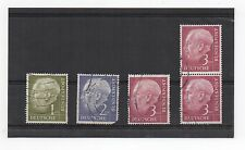1954 GERMANY Stamps SG1120 SG1121 SG1122 Pair President Heuss WEST