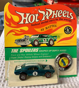 1968 Redline SALESMAN'S SAMPLE STAMPED, Hot Wheels DARK AQUA Heavy Chevy