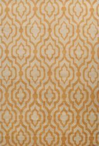 Trellis Modern Oriental Area Rug Orange/ Ivory Hand-tufted Wool Carpet 10x13 ft