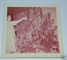 WOW Great Vintage 1955 Christmas Photograph Decorating Christmas Tree Ornaments