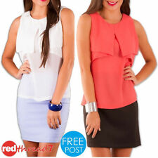 Chiffon Machine Washable Sleeveless Tops & Blouses for Women