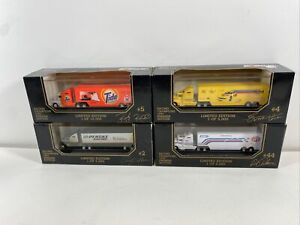 Lot Of (4) 1993 Racing Champions 1:87 NASCAR Transporters Rusty Wallace & More