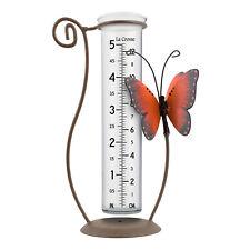 704-13077 La Crosse Butterfly Glass Rain Gauge - Orange
