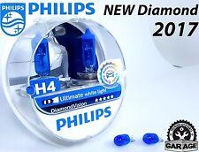 Philips H4 Diamond Vision 5000K Car Headlight Bulbs kit, 12v 60 55w, + W5W Blue