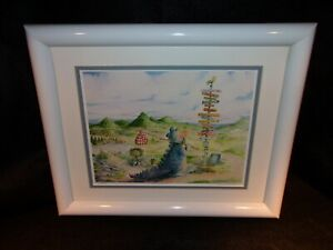 Framed Ron Rodecker Of Dragon Tales Crossroads Signed & Numbered Lithograph
