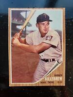 1962 TOPPS  #70 HARMON KILLEBREW  5.5 EX+ NM NICE CARD and nice Centering