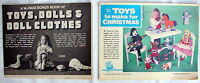 Two vintage Lift-Outs - TOYS DOLLS & DOLLS CLOTHES - 1969 & 1974 - sew knit wood