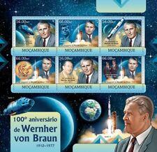 Wernher von Braun Space Exploration/Rocket Scientist Stamp Sheet/2012 Mozambique
